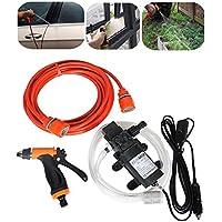 labellevie Set lavaggio auto portatile intelligente 60W ad alta pressione autoadescante pompa acqua lavaggio Rondella fissaggio elettrica 12V