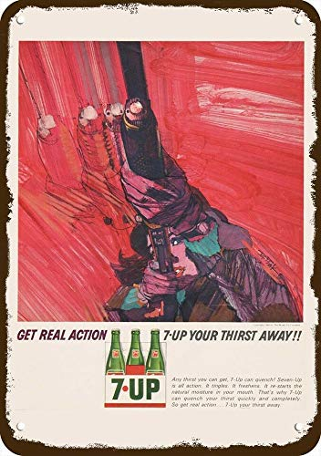 Laptopo 1964 7UP 7 UP SODA Vintage Look Replica Metal Sign - BOB Peak Skeet Shooting Art (Soda 7up)