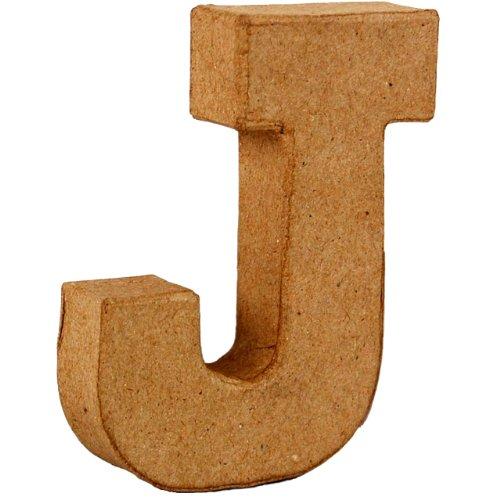 country-love-crafts-4-inch-10cm-3d-letter-j-papier-mache