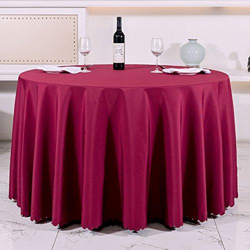 Very good KHotel Tischdecken Runden Tischdecke,Dickes Reines Schwarzem Tisch Tuch,Tischdecke Stoff Hochzeitshotel-P Durchmesser220cm(87inch)