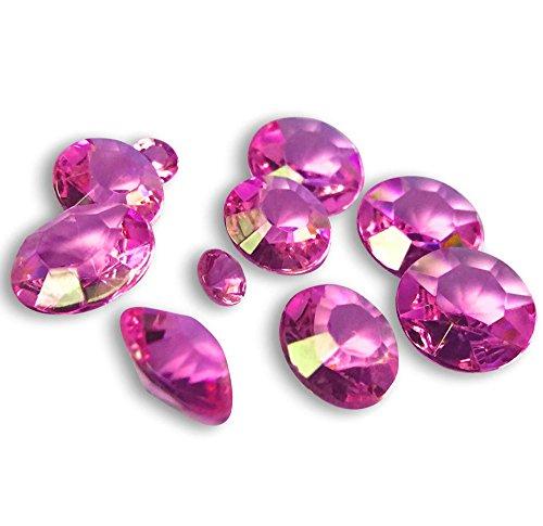 FLAIRELLE, Tischkristalle, Pink, 45g, Deko-Kristalle, Deko-Diamanten, Tisch-Konfetti, Dekoration zur Hochzeit, Tischdekoration, ca. 300...