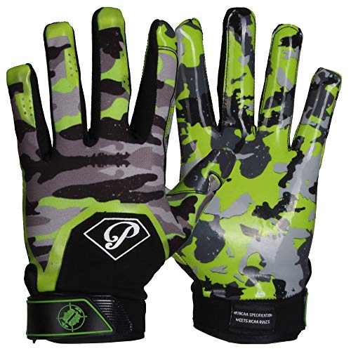 Prostyle Tactical American Football Receiver Handschuhe - neon grün Gr. L