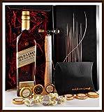 Geschenk Johnnie Walker Gold Label Whisky + Flaschenportionierer + 10 Edel Schokoladen von DreiMeister & DaJa + 4 Whisky Fudge, kostenloser Versand
