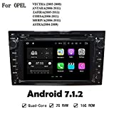 Schwarz Farbe Car Multimedia Player Radio Stereo Android 7.1.2 2 GB RAM GPS Navi Head Unit für Opel Vectra Antara Zafira Corsa Meriva Astra