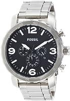 Reloj Fossil JR1353 de cuarzo para hombre con correa de acero inoxidable, color plateado de FOSSIL