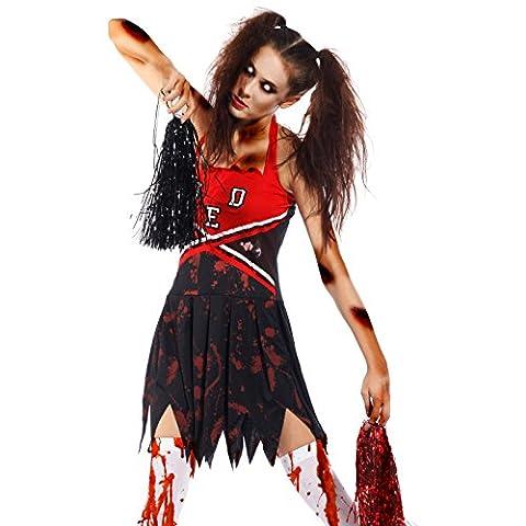 Zombie Halloween Costumes Filles - Deguisement Pom-pom girl fille 10-15 ans Costume