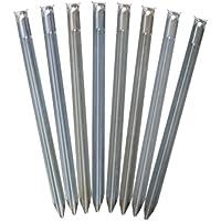 Sandheringe, 30cm - Sandfortress von outdoorer - 8 Stück 1,2 mm dicke Stahlheringe mit V-Profil inkl. Transporttasche