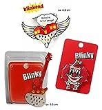 Blinkie Köln Anstecker 3 Motive zur Auswahl (Clown, Gitarre, Herz-Schutzengel) Accessoire