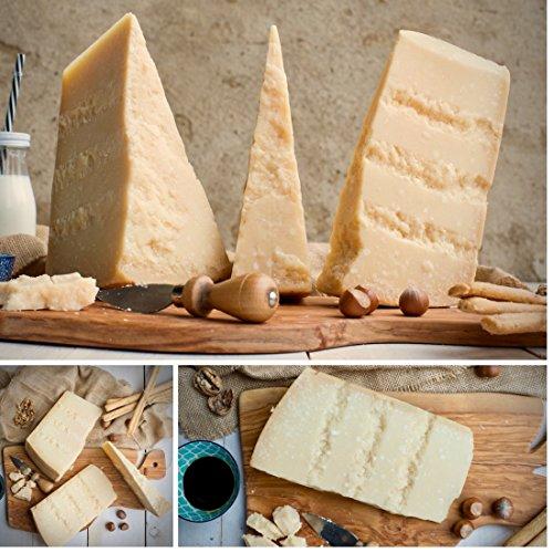 Parmigiano reggiano dop selezionato - 3 stagionature 18, 24 e 36 mesi - made in italy - emilia food love (1.5)