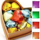 """Papel de aluminio envoltorio–Pack de 100cuadrado Candy Bar envoltorio envoltorios de grosor del papel con respaldo–se pliega y así–mejor para regalo de Hershey 's/caramelos/Chocolate/Regalos–tamaño 3""""x 3"""" por favolook dorado"""