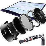 Lumos bayoneta parasol HB de 32accesorios para Nikon Kit Objetivo AF-S DX Nikkor 18–105mm/18–140ED VR en la cámara digital D3300D3400D5300d5600D7200D7500