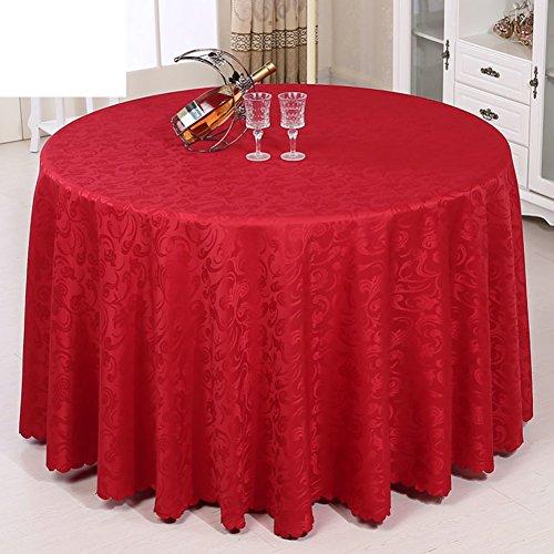 Soopo Hotel-Kleider,Dauerhaftere rote runde tischdecken für Haushalt Hochzeit tagung Restaurant Dining Table tischdecken rechteck tun verblassen Nicht-A Durchmesser320cm(126inch) Aaron Kleid