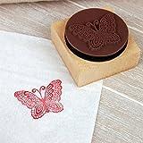Kreativ DIY Niedlich Mini-Dekoration Holz Stempel Dicht Mit Stempelkissen Schmetterling Thematisiert