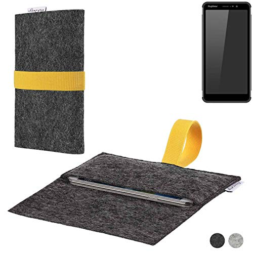 flat.design Handy Hülle Aveiro für Ruggear RG850 passgenaue Filz Tasche Case Sleeve Made in Germany