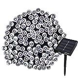 Yasolote 22M Guirnalda de Luces Solares 8 Modos 200 LED Luces de Navidad de Exterior Impermeables para Decorar Patio, Jardín, Terraza, Boda, Fiesta, Navidad (Blanco)