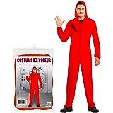 Déguisement La CASA de Papel Adulte de 170 à 180 cm | Costume Cosplay Série CASA de Papel | Unisexe | Combinaison Rouge à Cap