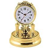 Unbekannt Standuhr Nostalgie, Gold, antik Retro barock altmodische Drehpendeluhr Retrouhr Dekouhr batteriebetrieben Glasuhr