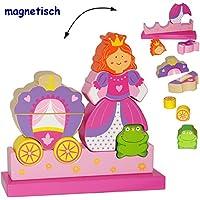 Preisvergleich für alles-meine.de GmbH 3-D Puzzle - magnetische Holz Bausteine & Klötze mit Magneten - Prinzessin m..