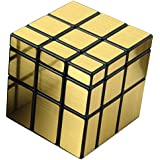 Shengshou Magic Cube Set Fluctuation Angle Puzzle Cube Skewb Speed Magic Cube Puzzle 3x3x3 Mirror Magic Cube Toys-Golden