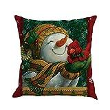 TWIFER Weihnachten Kissenbezug Druck Färben Schlafsofa Home Deko Kissen (I, 45 x 45 cm)