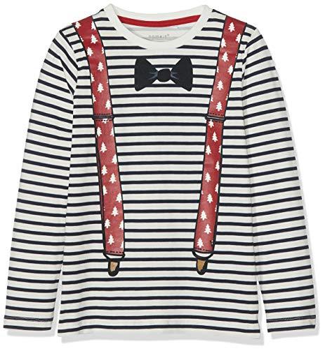 NAME IT Jungen NMMRAFILM LS TOP Box Langarmshirt, per Pack Blau (Dark Sapphire Dark Sapphire), 110 (Herstellergröße: 110) - Geschenke Kids Dark T-shirt