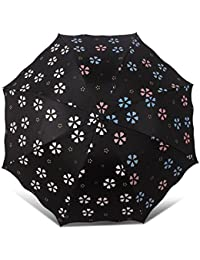 EPIC MONSOON MAGIC FLOWER PRINT UMBRELLA : Three Folding Anti-UV Protection Umbrella, Dome Shape Sun Rain Umbrella For Women And Girls, pack of 1