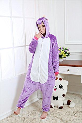 Kenmont Adulte Unisexe Anime Animal Costume Cosplay Combinaison Pyjama Licorne Nuit Vêtements Soirée de Déguisement Outfit purple