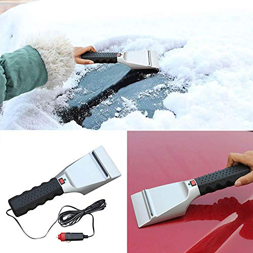 DADEA raschietto per ghiaccio per auto raschietto elettrico per ghiaccio per parabrezza e ghiaccio con cono magico per parabrezza e ghiaccio