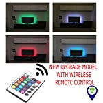Dabhees® NEW UPGRADE BLACK LED TV Backlight for HDTV/Gaming PC LED Strips Home Multi Color RGB LED Neon Accent TV Lighting for Flat Screen TV Accessories, Desktop PC (one x 50cm)