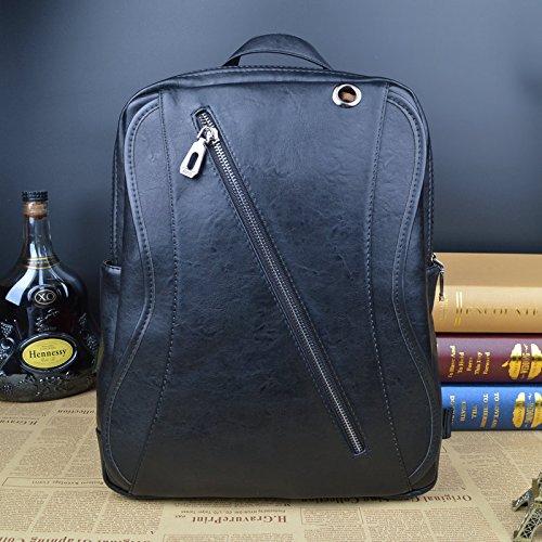Meoaeo Leder Rucksack, Taschen Für Männer, Mode black