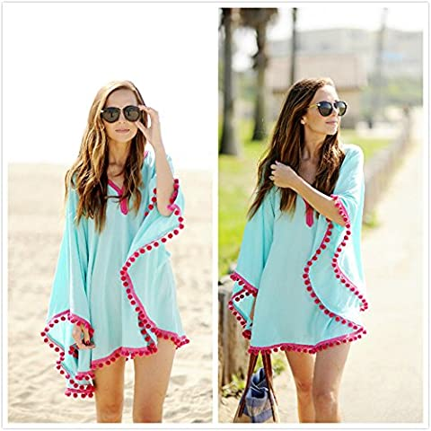 HONEYY Station balnéaire plage mousseline shirt Smock, S