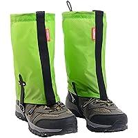 Black Temptation Impermeable Senderismo/Escalada / Camping/Zapatos de esquí Gaiters - M Green