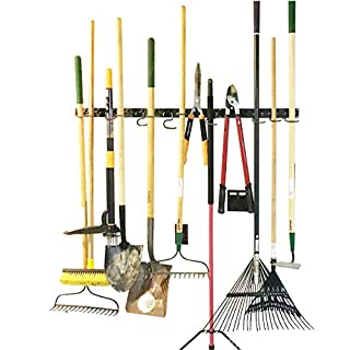 Adjustable Storage System 120cm , Wall Holders for Tools, Wall Mount Tool Organiser, Garage Organiser, Garden Tool Organiser, Garage Storage