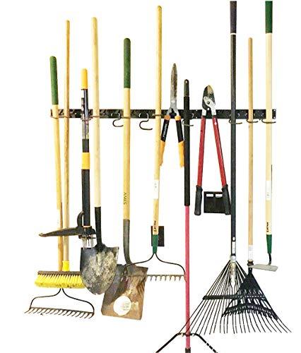 Storage-system (verstellbar Storage System 121,9cm, Wandhaltern für Werkzeug, Wandhalterung Werkzeug Veranstalter, Garage Organizer, Garden Tool Organizer, Garage Aufbewahrung)