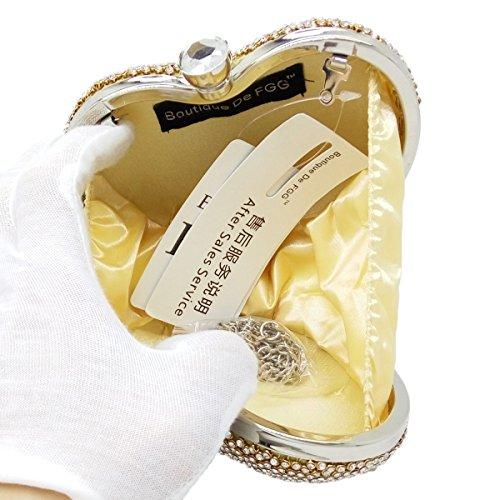 FZHLY Europa Und Die Vereinigten Staaten Herz-förmigen Abend Party Tasche Diamond Clutch GoldQueen