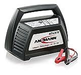 Ansmann ALCT 6-24/10 KFZ Service Ladegerät/Vielseitiges Batterieladegerät für Autobatterien & Bleiakkus mit 6V, 12V & 24V / Ideal für PKW, Motorrad, Roller oder Boot/Inkl. Polklemmen