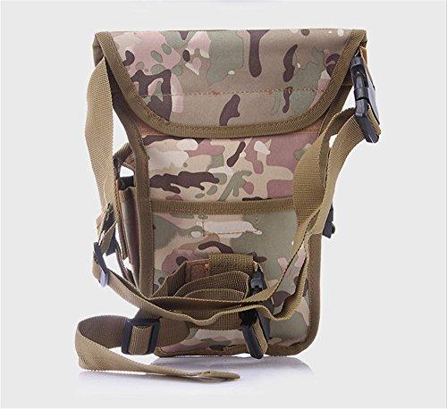 Wewod Hüfttasche Tactical mit Trinkflasche und verstellbarem Bauchgurt/Mode Multifunktionale Gürteltasche Handytasche für Camping Wandern Outdoor CP Tarnung Trompete