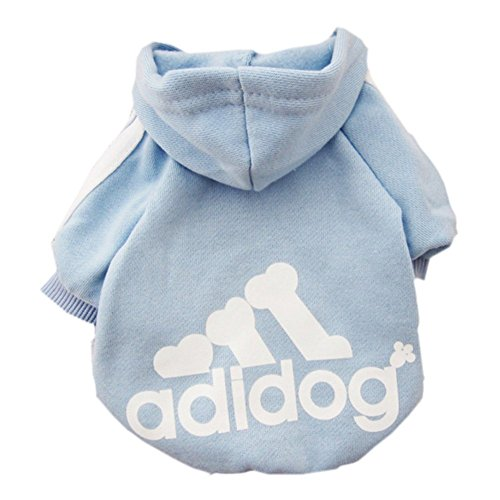 Yuhemii Haustier Hund Katze Pullover Welpen T-shirt Warme Hoodies Mantel Kleidung bekleidung kleidung size L (Blau)
