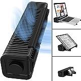 TATE GUARD Multifunktionaler Lüfter+Ständer,Verstellbarer 3-Gang-USB-Cross-Flow-Laptop-Kühler, Kühlpad/Ständerhalter für Laptop-Tablet-Handy,vertikaler+horizontaler persönlicher Lüfter für Menschen