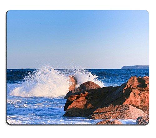 MSD-Tappetino per mouse in gomma naturale, gioco foto ID: 29822579 rocce è colpita dall'onde del mare sydney Bondi beach
