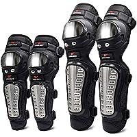 YIOY 4Pcs/Set Motocicleta Rodillera Acero Inoxidable Moto Codo Rodilleras Motocross Racing Kit Protectores De Protección