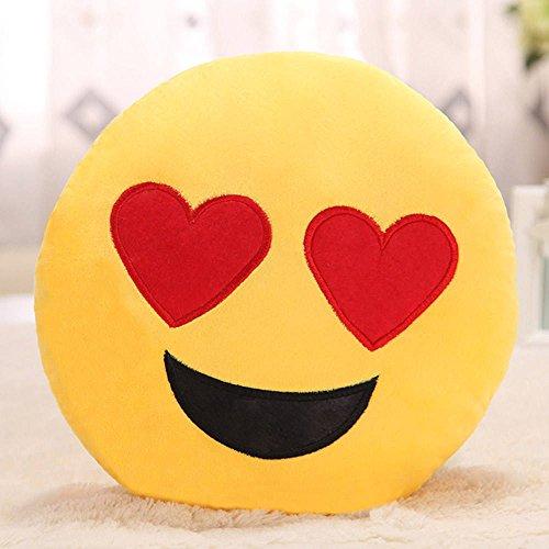 Showkoo Moda Emoji ventaglio tondo forma cuscino Per Office Nap - L'amore viso