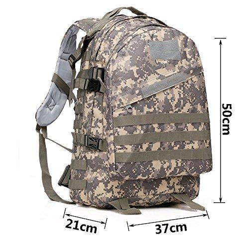 40L MOLLE 3D Assault Tactical Outdoor Militär Rucksäcke Rucksack Camping Laptop Tasche Rucksack für 10bis 39,6cm Laptops ACU Camo