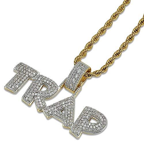 425c113254b1 Maiaroj Collar para Hombre de Hip Hop