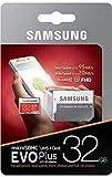 Samsung EVO Plus Micro SDXC 64GB  bis zu 100MB/s Class 10 U3 Speicherkarte (inkl. SD Adapter) rot/weiß