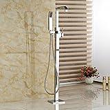 Gowe Badezimmer Badewanne Wasserhahn freistehend Bodenmontage quadratisch Dusche Armatur Badewanne Filler