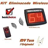 Sistema eliminacode sin hilos Radio Kit completo Pantalla dos dígitos, Radiocomando