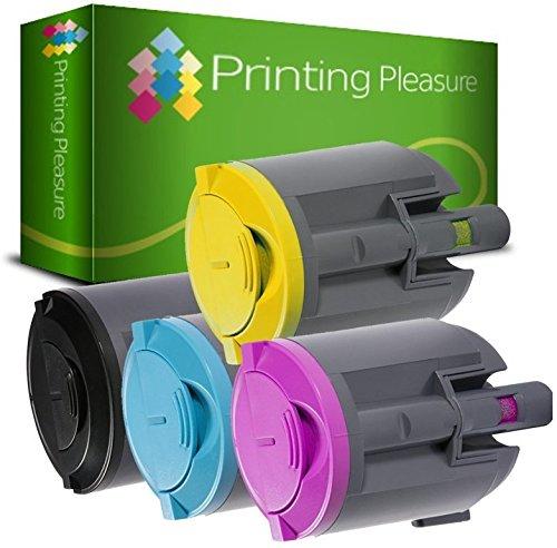 4er Set Premium Toner kompatibel für Xerox Phaser 6110, 6110MFP, 6110N, 6110VN, 6110VB -