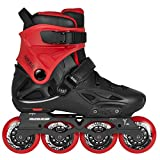 Powerslide Imperial Basic 80 Freeskate Inline Skates schwarz-rot Größe 41/42