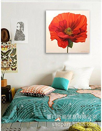 Pittura a olio moderna minimalista casa piante decorative fioriscono dipinti di camera da letto cornice foto,60 * 60